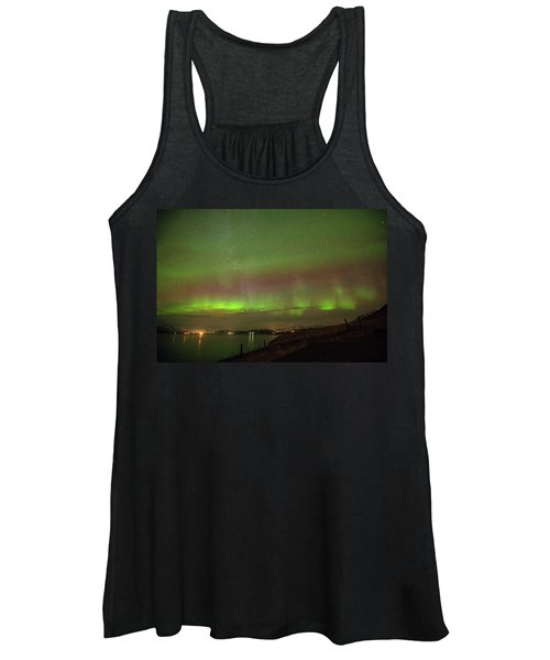 Stars And Northern Lights Women's Tank Top