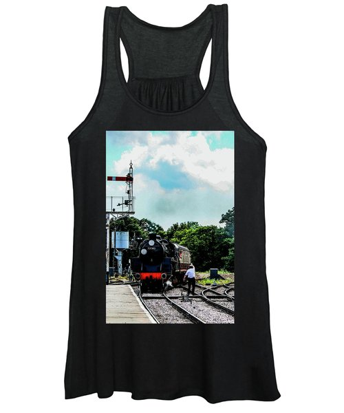 Steam Train Approaching Women's Tank Top
