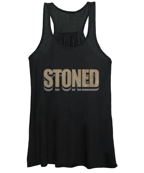 Women's Tank Top featuring the digital art Stoned Tee by Edward Fielding