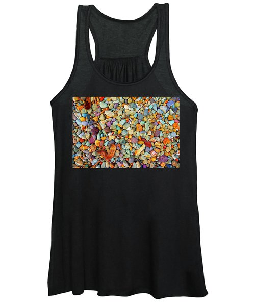 Stones And Barks On Beach Women's Tank Top
