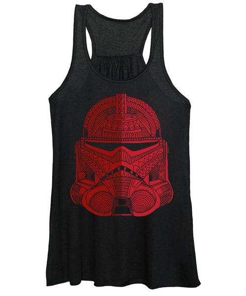 Stormtrooper Helmet - Star Wars Art - Red Women's Tank Top