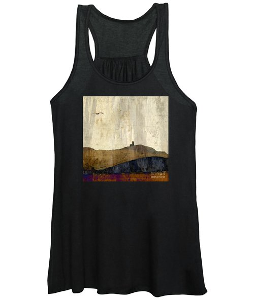 Strata With Lighthouse And Gull Women's Tank Top