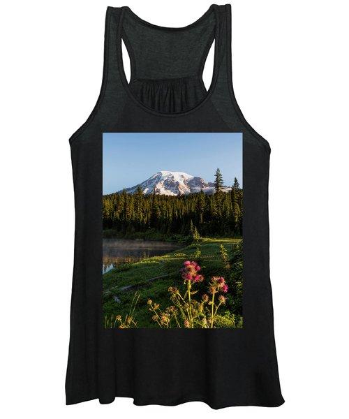 Summer Morning At Mt Rainier Women's Tank Top