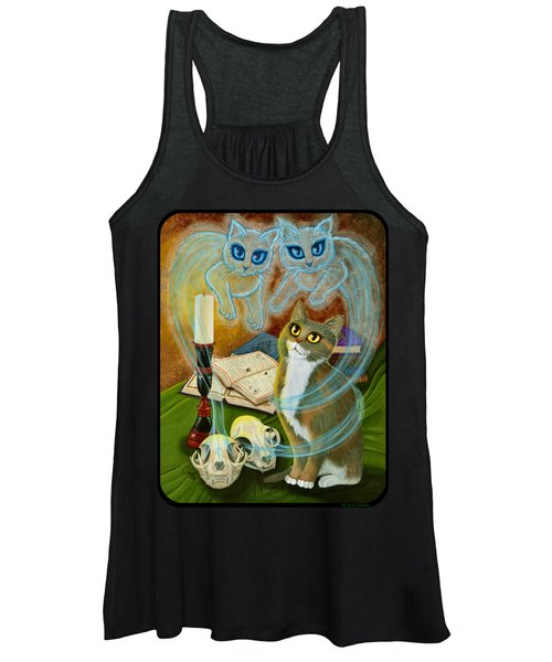 Summoning Old Friends - Ghost Cats Magic Women's Tank Top