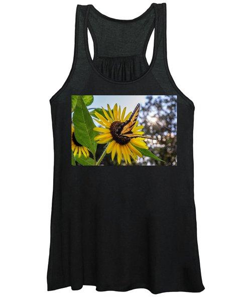 Sunflower Swallowtail Women's Tank Top