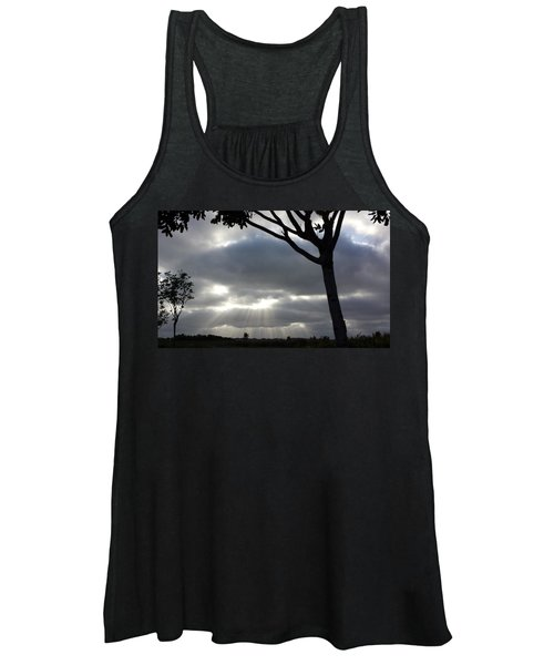 Sunlit Gray Clouds At Otay Ranch Women's Tank Top