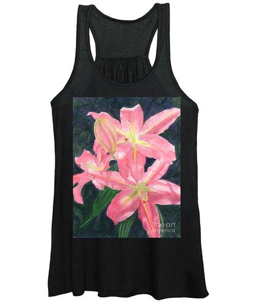 Sunlit Lilies Women's Tank Top