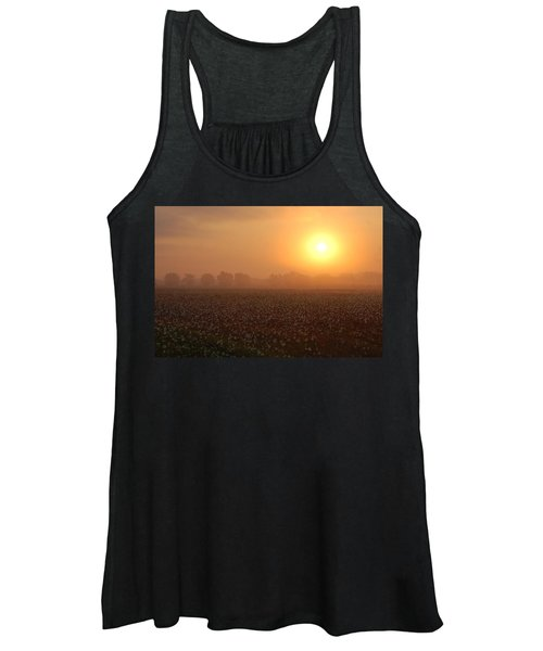Sunrise And The Cotton Field Women's Tank Top