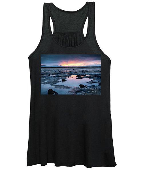 Sunrise Over The Bronze Age Sunken Forest At Borth On The West Wales Coast Uk Women's Tank Top