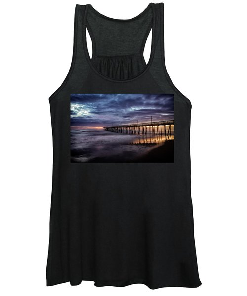 Women's Tank Top featuring the photograph Sunrise Pier by Pete Federico