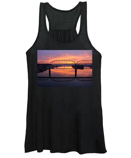 Sunrise Walnut Street Bridge 2 Women's Tank Top