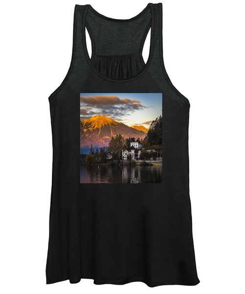 Sunset At Bled Women's Tank Top