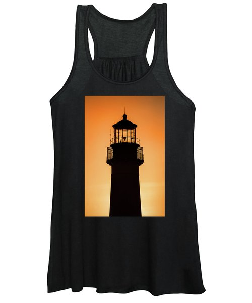 Sunset At Lighthouse Women's Tank Top