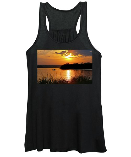 Sunset Boater, Smith Mountain Lake Women's Tank Top