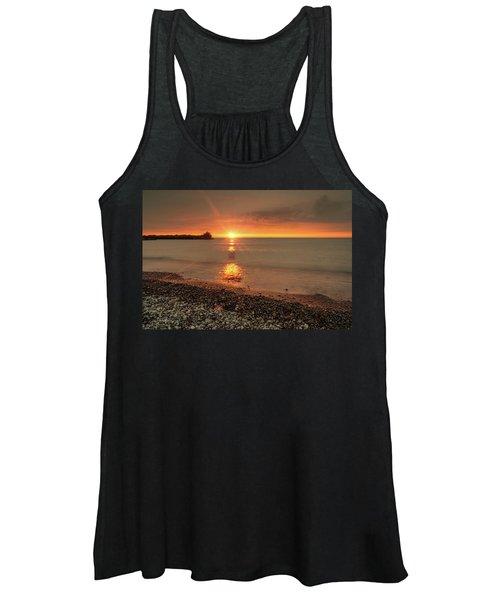 Sunset On Huron Lake Women's Tank Top