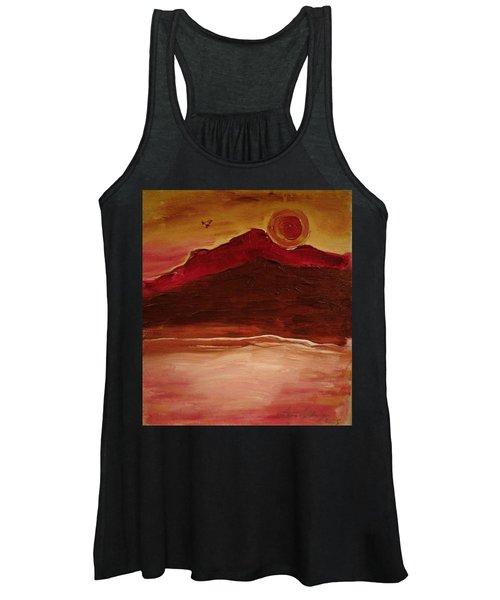 Sunset On Red Mountain Women's Tank Top