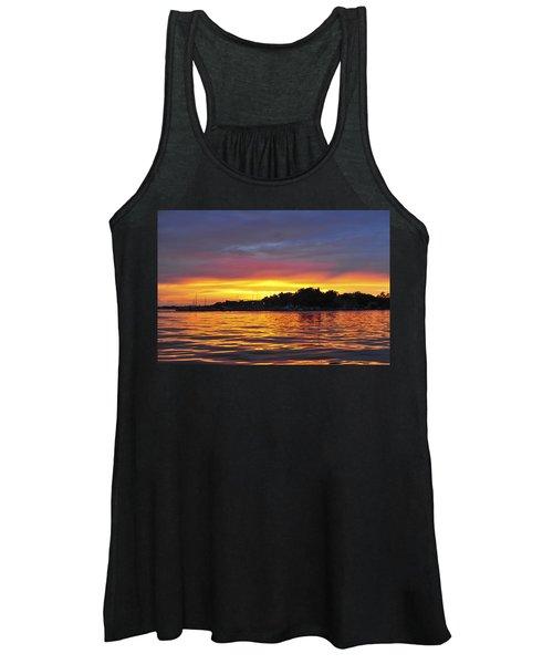 Sunset On The Bay Island Heights Nj Women's Tank Top