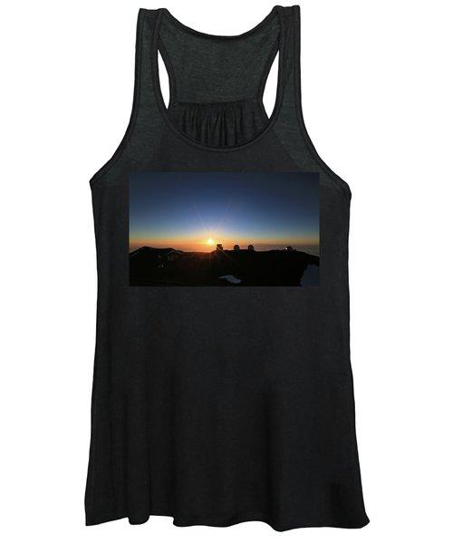 Sunset On The Mauna Kea Observatories Women's Tank Top