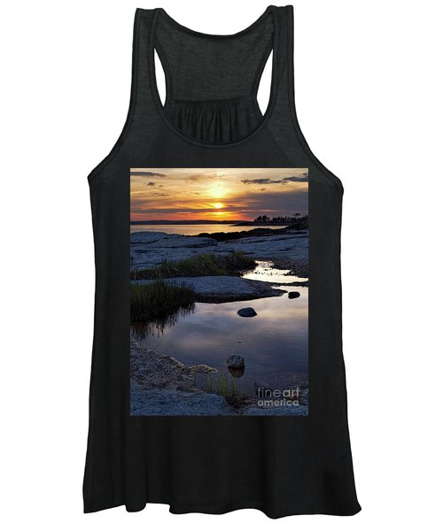 Sunset Over Boothbay Harbor Maine  -23095-23099 Women's Tank Top