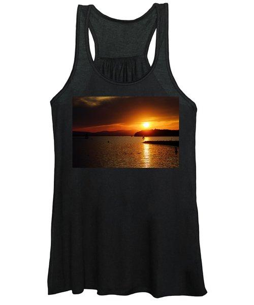 Sunset Over Lake Champlain Women's Tank Top