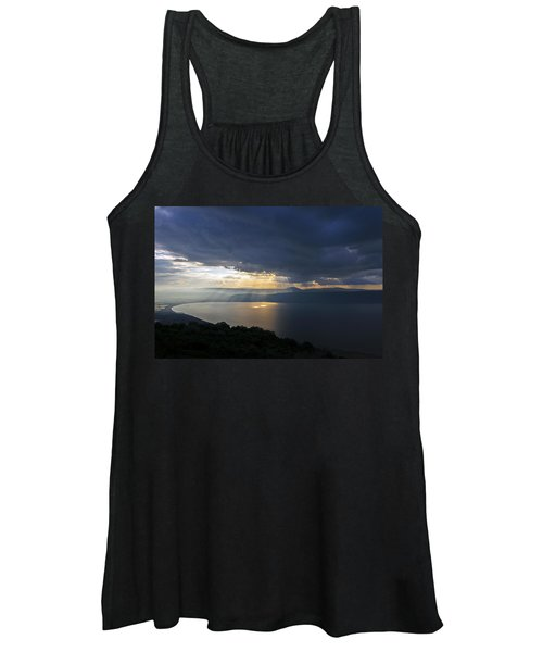 Sunset Over The Sea Of Galilee Women's Tank Top