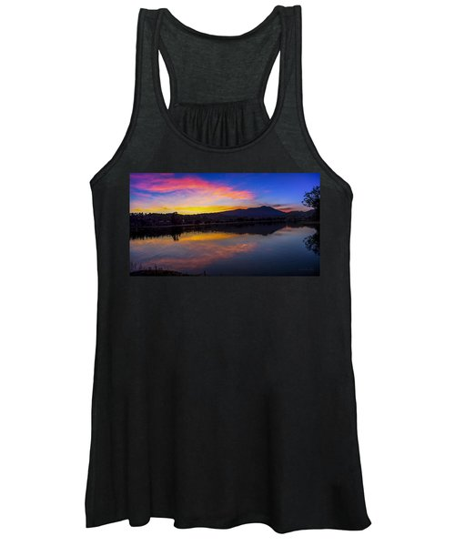 Sunset Panorama Of Mt. Tam And Richardson Bay Women's Tank Top
