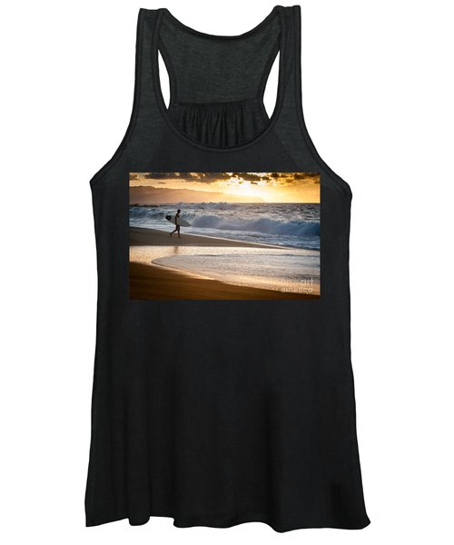 Surfer On Beach Women's Tank Top