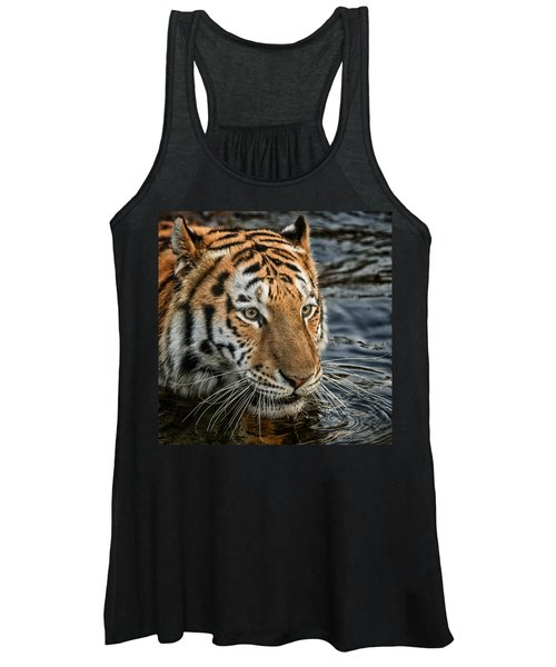 Swimming Tiger Women's Tank Top