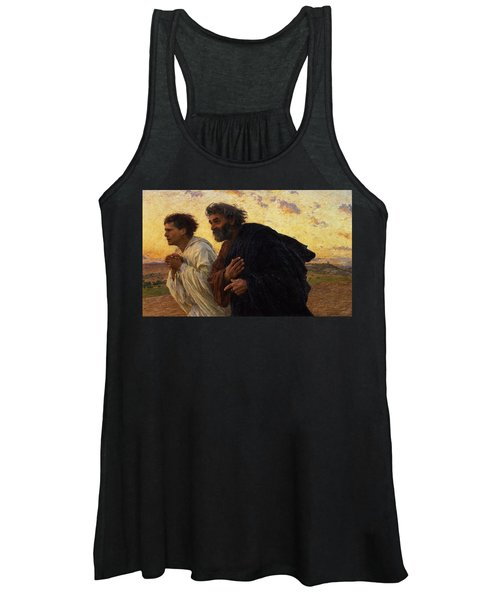 The Disciples Peter And John Running To The Sepulchre On The Morning Of The Resurrection Women's Tank Top