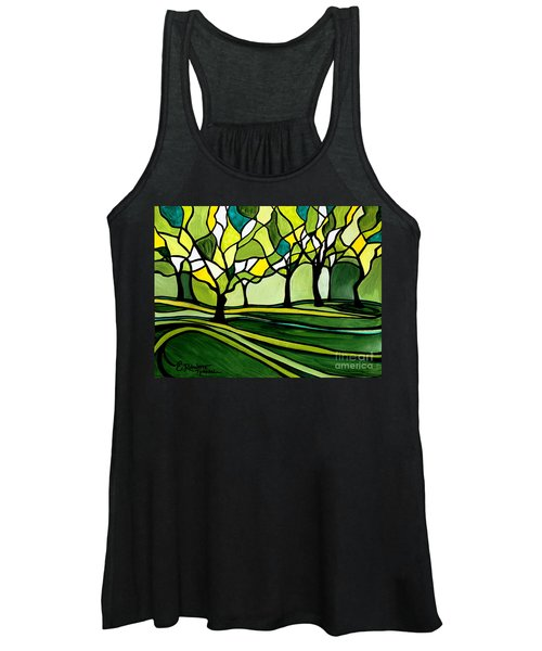 The Emerald Glass Forest Women's Tank Top