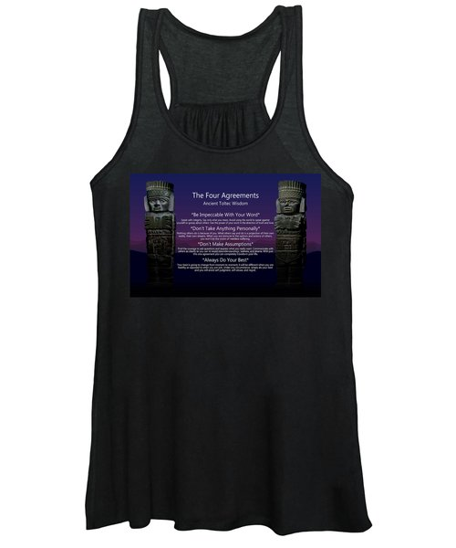 The Four Agreements Poster Women's Tank Top