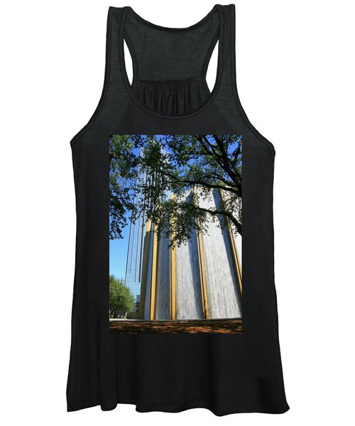 The Houston Water Wall And Williams Tower Women's Tank Top