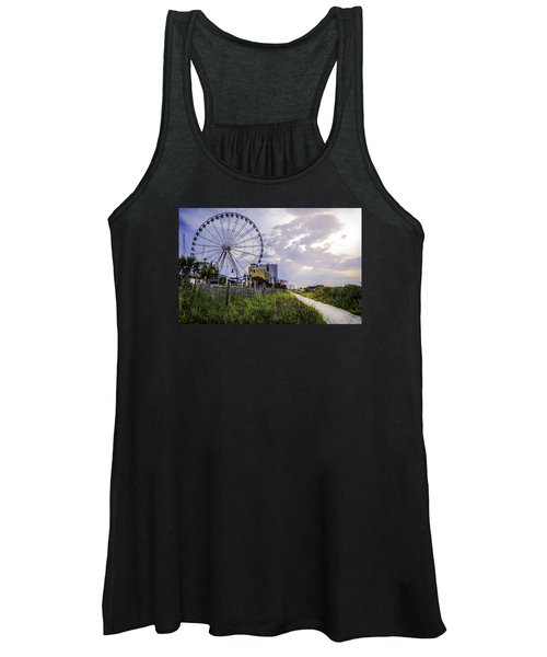 The Myrtle Beach, South Carolina Skywheel At Sunrise. Women's Tank Top