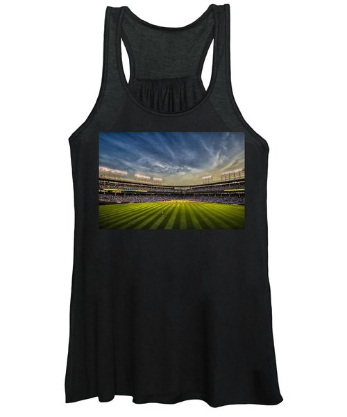 The New Wrigley Field With Pretty Sunset Sky Women's Tank Top