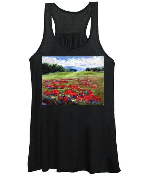 Thunder Clouds Over Bavarian Meadow Women's Tank Top