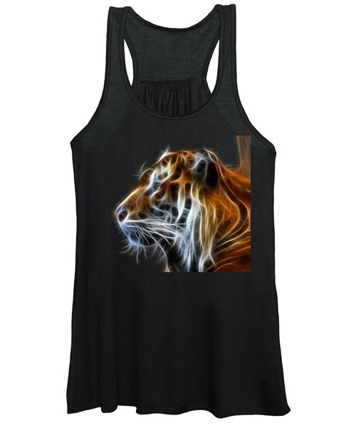 Women's Tank Top featuring the photograph Tiger Fractal by Shane Bechler