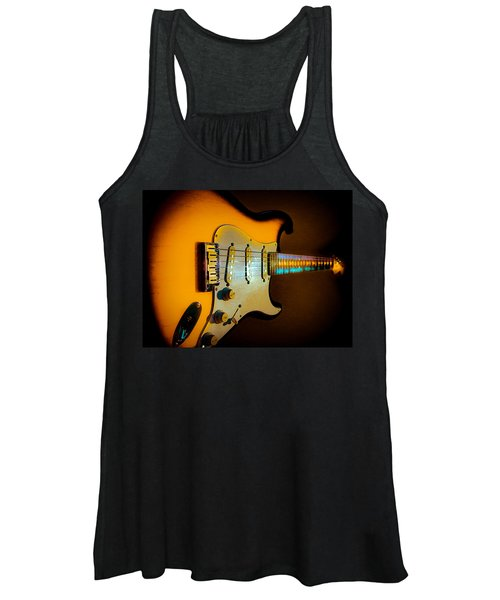 Tobacco Burst Stratocaster Glow Neck Series Women's Tank Top
