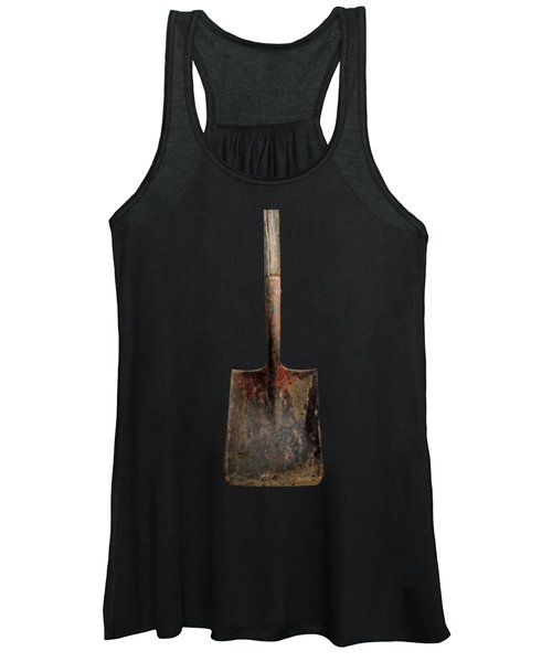 Tools On Wood 4 On Bw Women's Tank Top