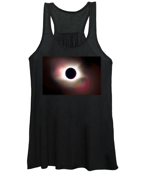 Total Eclipse Of The Sun T Shirt Art With Solar Flares Women's Tank Top