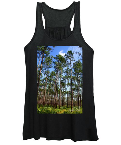 Trail Through The Pine Forest Women's Tank Top