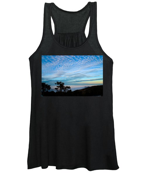 Tree Silhouettes On Troodos Women's Tank Top