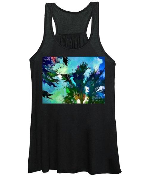 Tree Spirit Abstract Digital Painting Women's Tank Top
