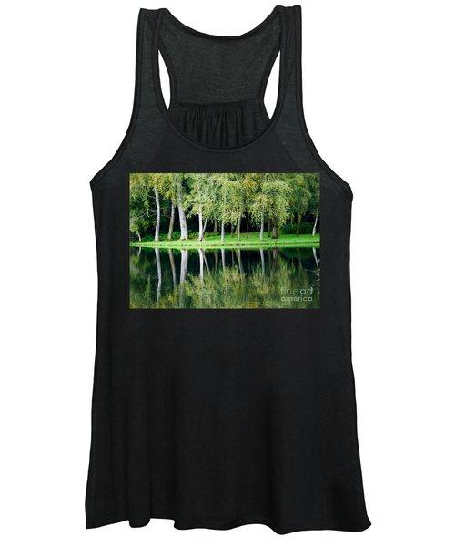 Trees Reflected In Water Women's Tank Top