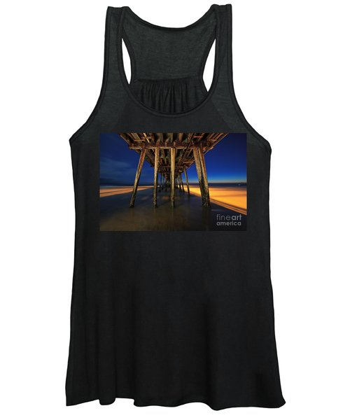 Twilight Under The Imperial Beach Pier San Diego California Women's Tank Top