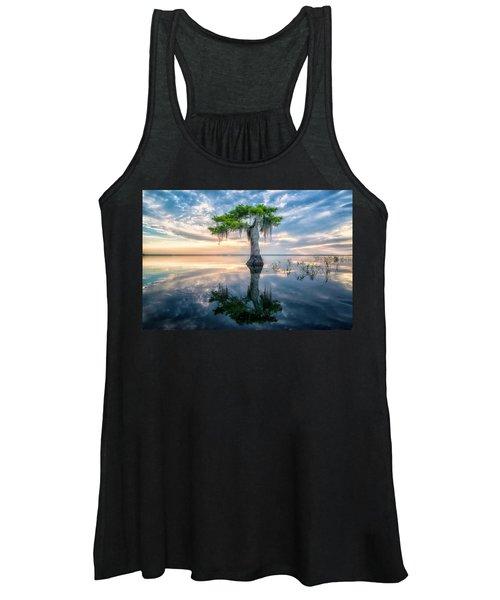 Twisted Cypress Mirror Women's Tank Top