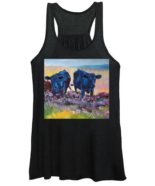 Two Black Cows On Dartmoor Women's Tank Top