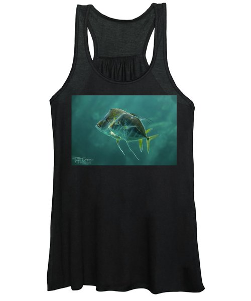 Two In Turquoise Women's Tank Top