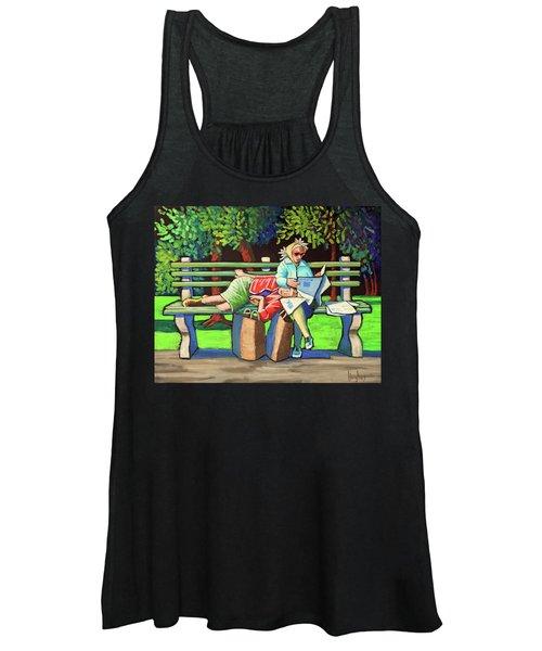 Two Ladies On Bench Women's Tank Top