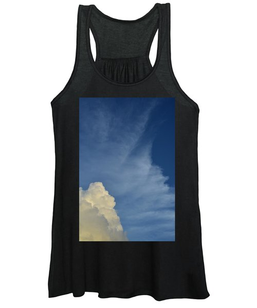 Two Tone Clouds 9384 Women's Tank Top