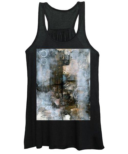Urban Abstract Cool Tones Women's Tank Top